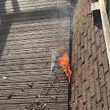 Brandje aanlegsteiger bij Gerringa Oude Pekela