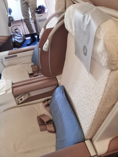 Business class seating IST-ORD. From What's It Really Like to Fly Turkish Airlines Business Class?