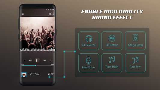 Mp3 Music Player HoneyMuzic x 01 (Paid) APK for Android