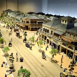 the old streets of Tokyo at the edo-tokyo museum in Japan in Tokyo, Tokyo, Japan
