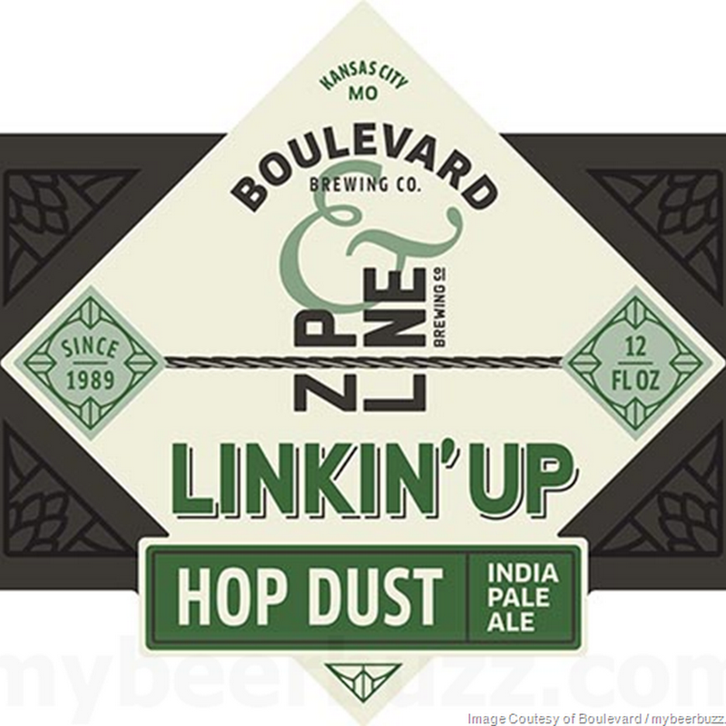 Boulevard & Zipline Brewing Collaborate On Linkin' Up Hop Dust IPA (Getting' Down)