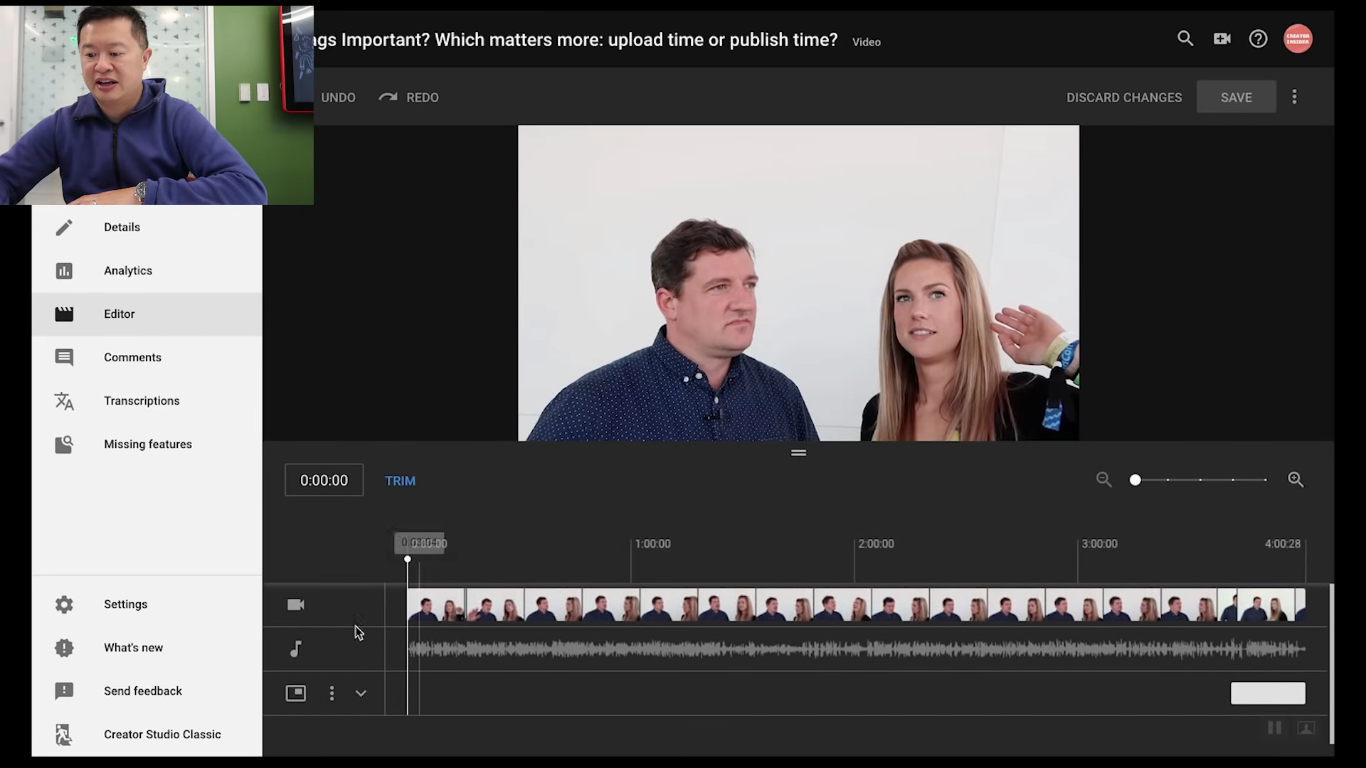 Changes to editing and enhancement features in creator studio a quick look was allready featured in an video ccuart Image collections