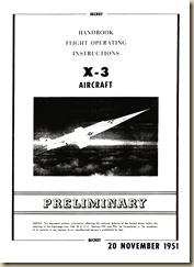 Douglas X-3 Flight Operating Instructions Handbook_01a