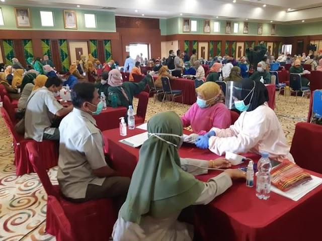 Antisipasi Risiko Covid-19, SMK-PP Negeri Banjarbaru Ikuti Vaksinasi untuk Tenaga Pendidik