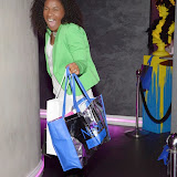 WWW.ENTSIMAGES.COM -   Karen Bryson leaving     The MediaSkin Gifting Lounge at Stamp 79 Oxford Street London November 6th 2014                                                 Photo Mobis Photos/OIC 0203 174 1069