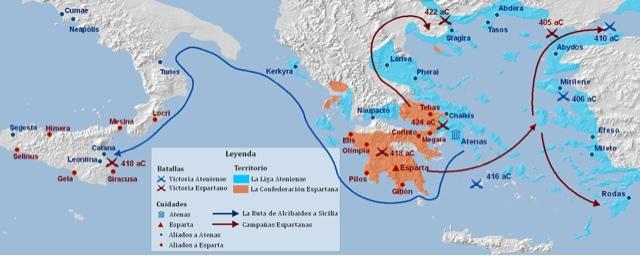 Grecia - Guerra del Peloponeso - Historia de las civilizaciones