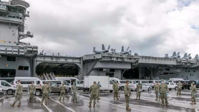 155 Prajurit Marinir Terinfeksi COVID-19, Kapal Induk Nuklir AS Lumpuh