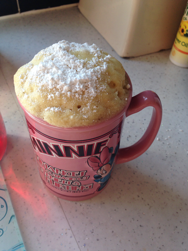 White Chocolate Mug Cake No Egg