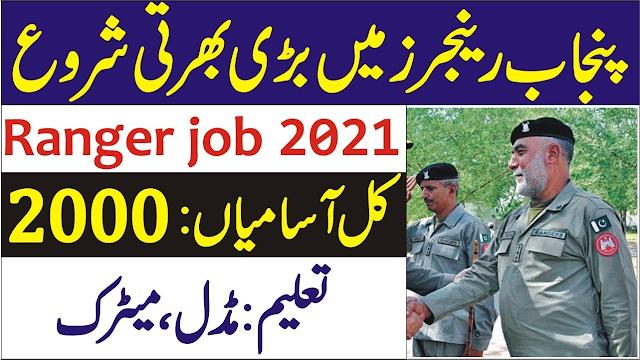 Punjab Rangers Jobs 2021 Latest 2000+Vacancies