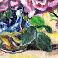 Roses in vase sml