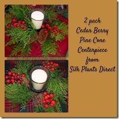 Cedar Berry Pine Cone Centerpieces
