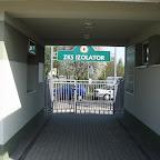 Wyjście ze stadionu na ul. Sportową.