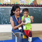 Introduction of Cow and Making Milkshek (Playgroup) 06.09.2016