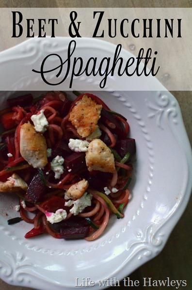Beet & Zucchini Spaghetti- Life with the Hawleys