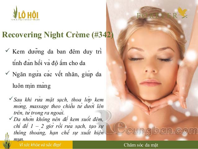 Kem dưỡng da ban đêm Recovering Night Creme mã số 342