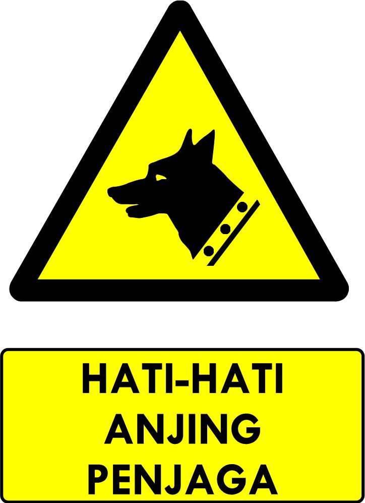 Rambu Bahaya Anjing Penjaga