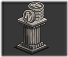 double coin statue