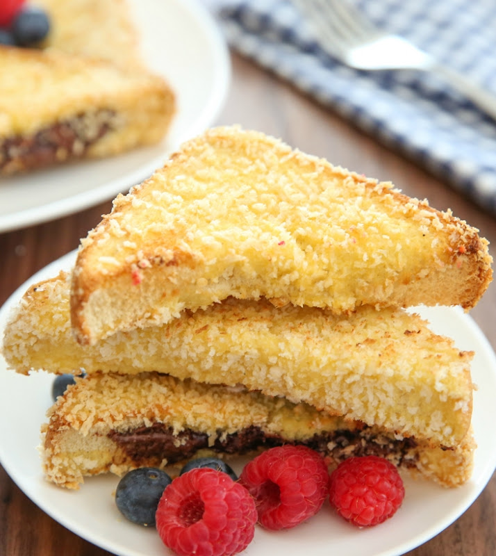 slices of Crunchy French Toast stacked on each other