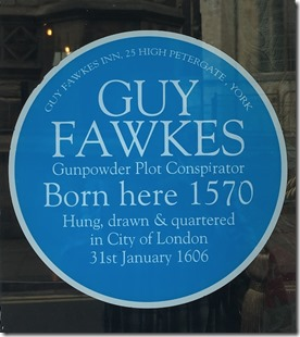 Guy Fawkes Blue Plaque
