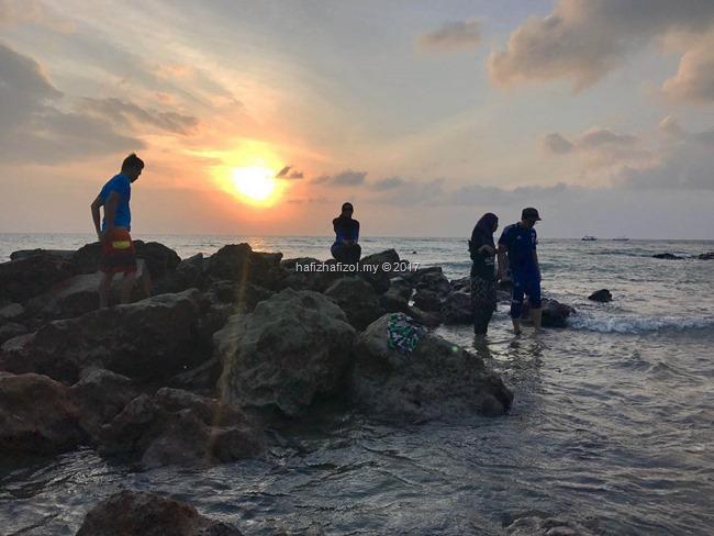 pemandangan matahari terbenam di pulau tioman yang cantik