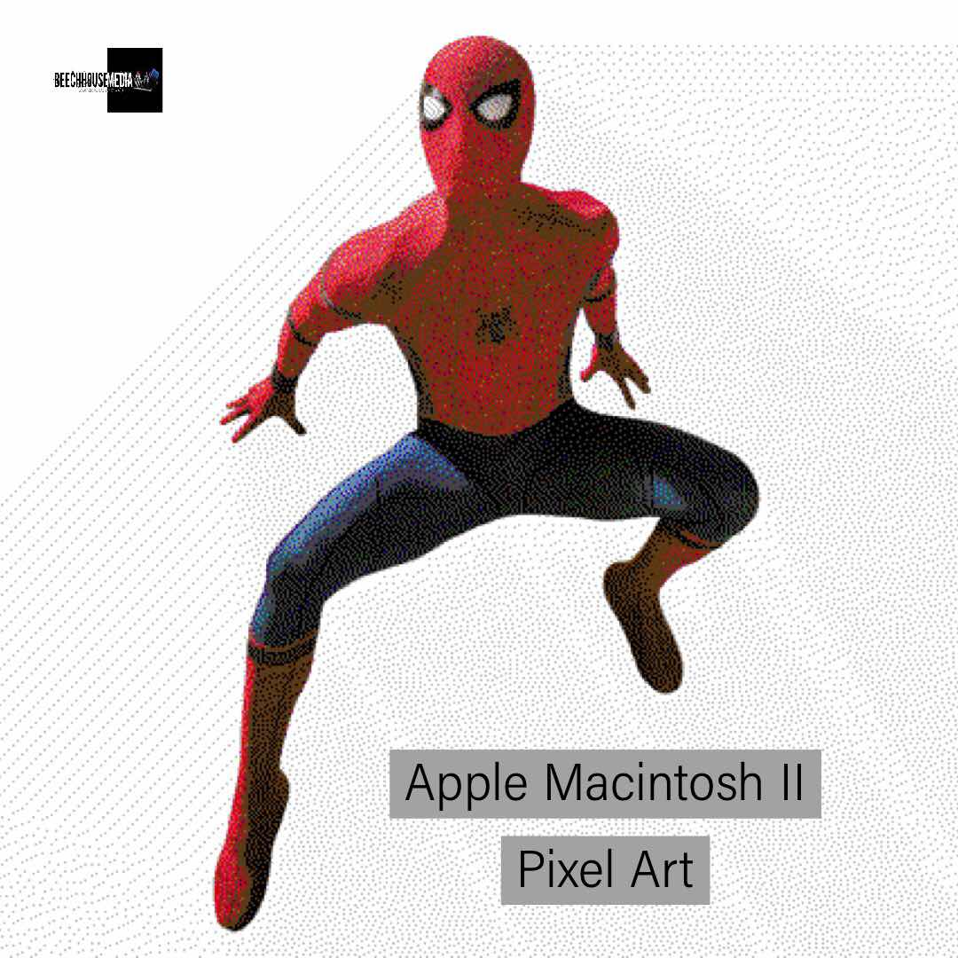 Pixel art from a retro Apple Macintosh