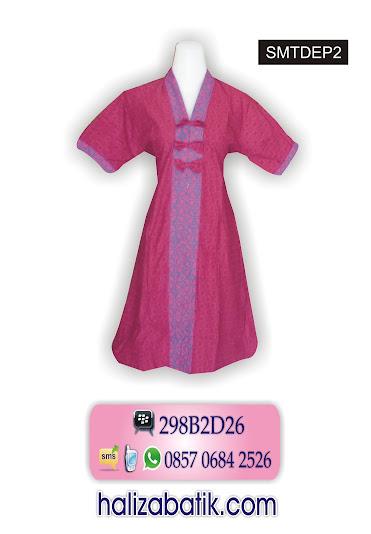 grosir batik pekalongan, Dress Batik, Model Dress, Baju Dress Batik