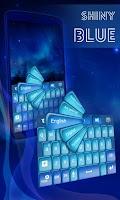 Screenshot of Shiny Blue Keyboard