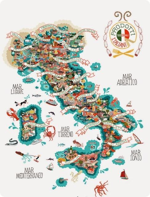 cartina enogastronomica italia