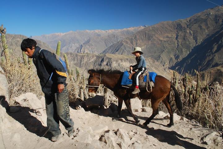 Famille péruvienne dans le Canyon de Colca