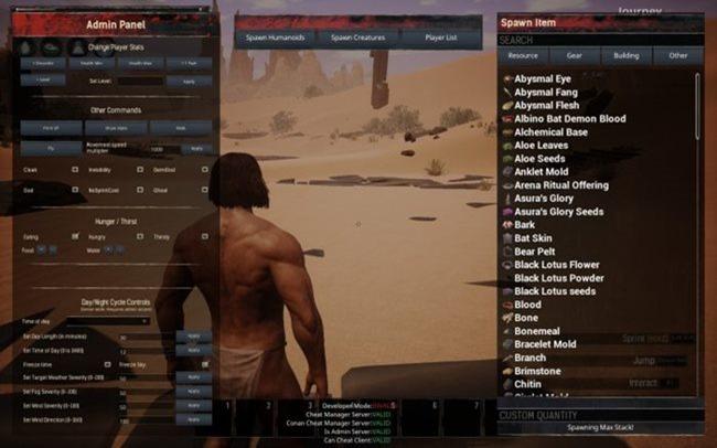 Conan Exiles ? So benutzen Sie das Admin Panel (Cheat Codes Guide)