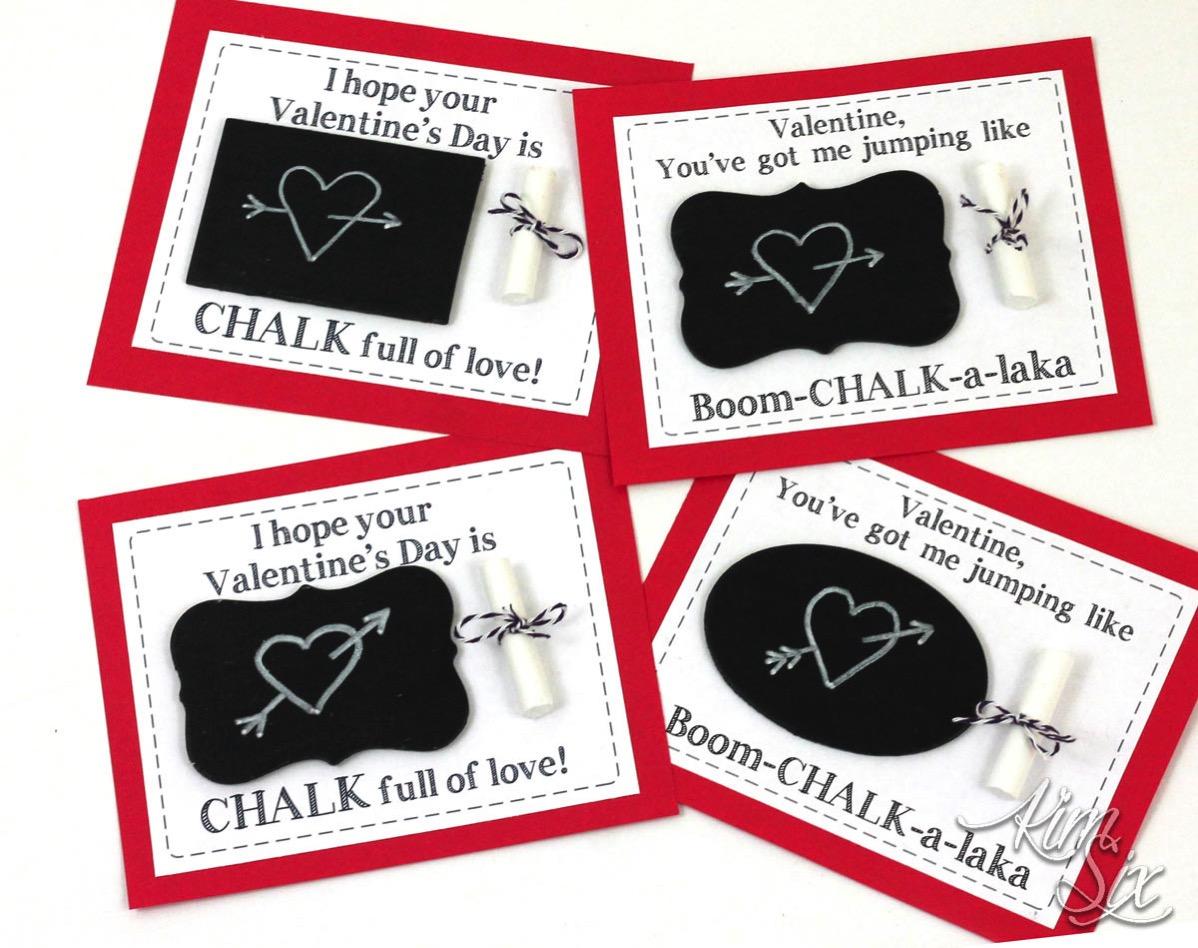 Chalkboard printable valentines