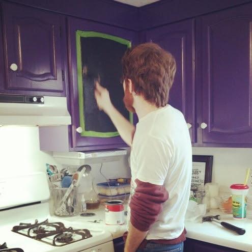 chalkboard paint cabinet