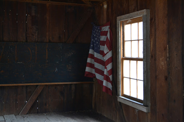 black board (area) in the school house