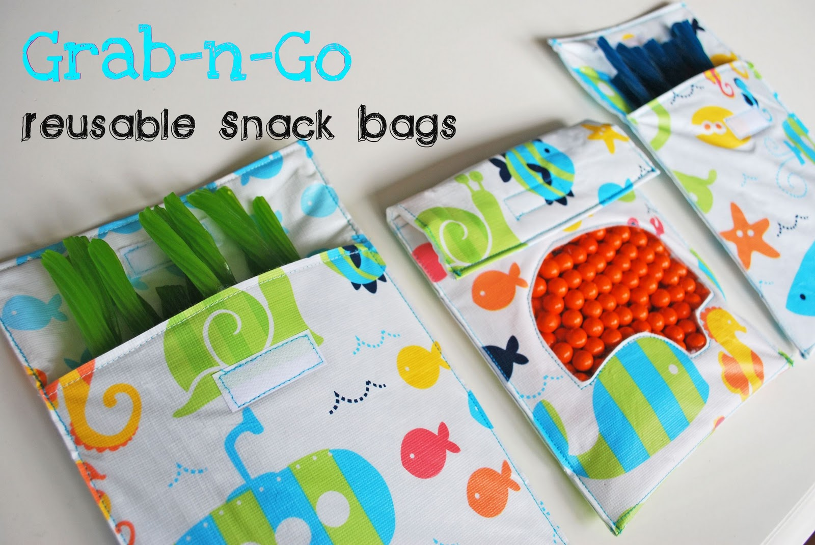 Larissa Another Day Grab N Go Reusable Snack Bags Tutorial