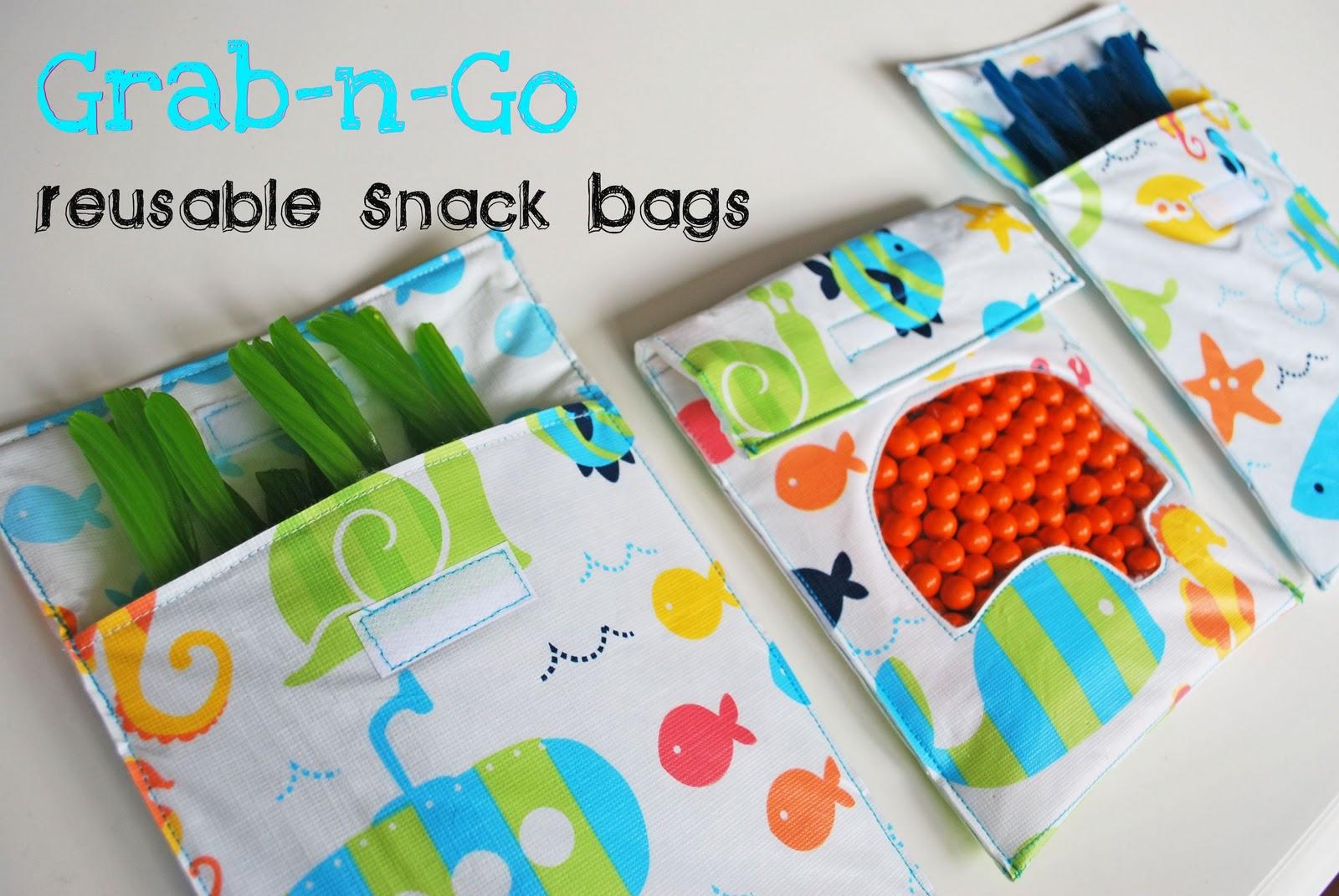 Grab N Go Reusable Snack Bags Tutorial