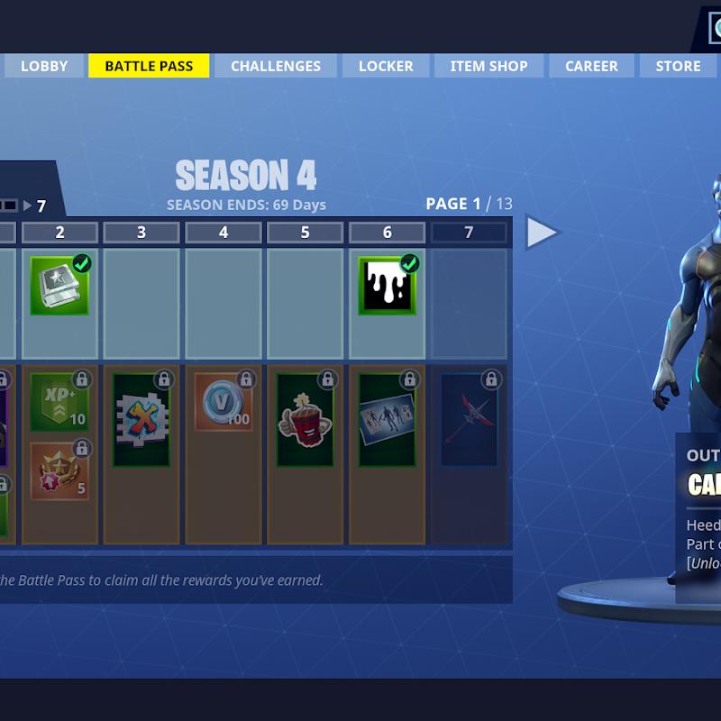 Todas as skins do passe de batalha da 4ª temporada