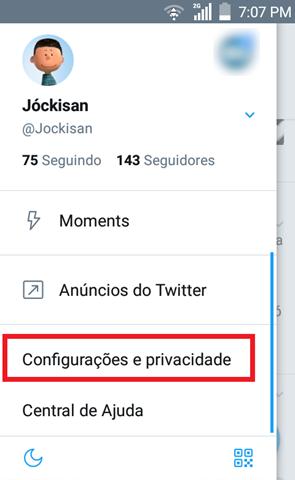 1 - Configurações e privacidade
