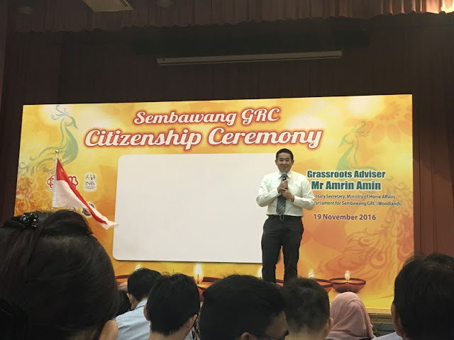 ❤ SWEET & HAPPY MOMENTS ❤ : Singapore Citizenship Ceremony