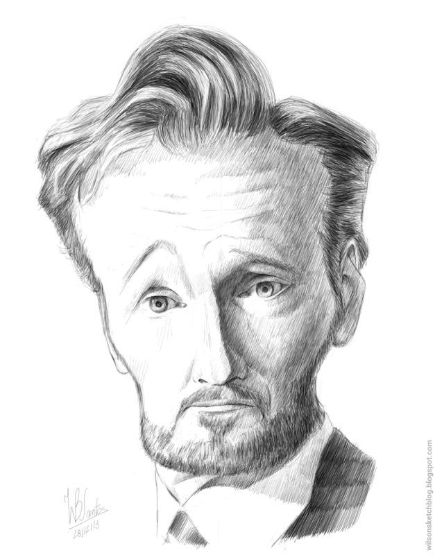 Caricature of Conan O'Brien, using Artflow.