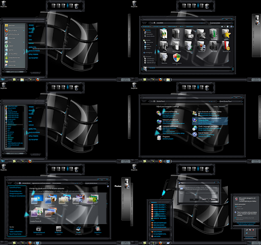 windows 7 theme black glass 3