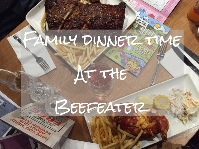 dining out at the beefeater