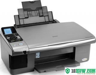 How to reset flashing lights for Epson CX5900 printer