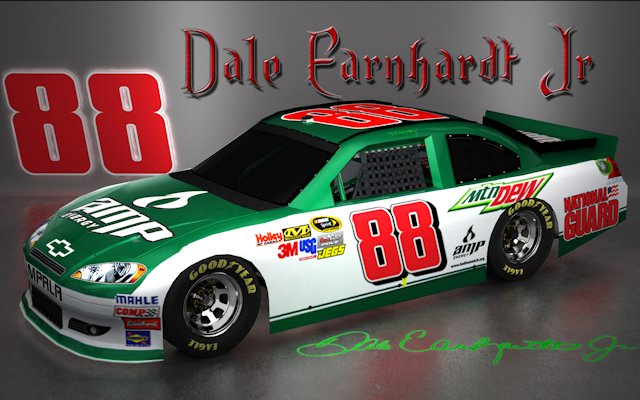 Dale Earnhardt Jr NASCAR Signature Wallpaper