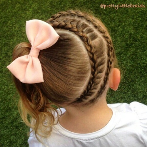 Cute Braided Hairstyles trendy for kids 2017 4