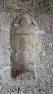 Niche in the east wall of the church