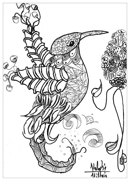 Coloringpageadultsanimalsbirdvalentin Free To Print