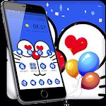 Blue Cat Cartoon Theme Icon