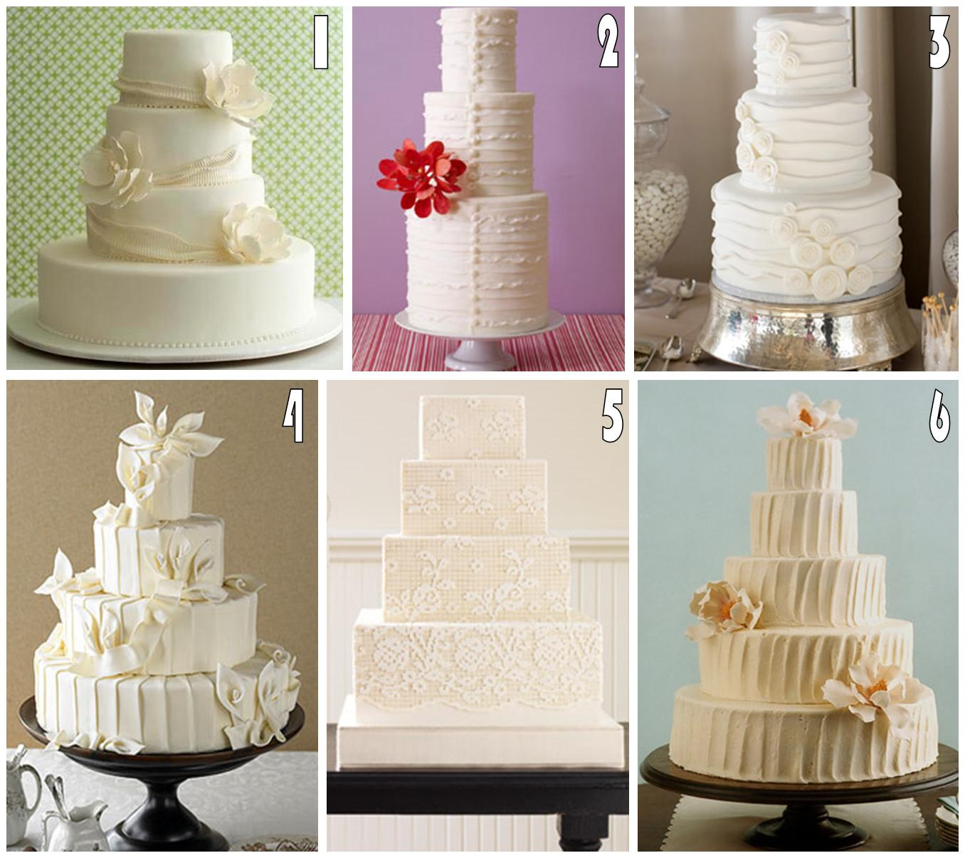 Sweeter Than Sweet Dessert Tables: White Wedding Cakes