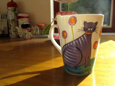 Tea mug in the evening sun