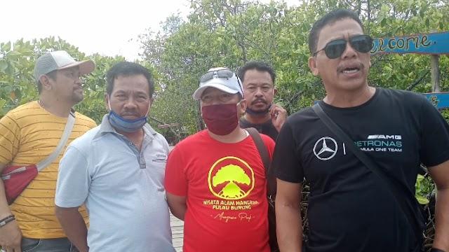 Kembangkan Wisata, Kepala DPMD Tanbu Kunjungi Hutan Mangrove Pulau Burung